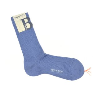 BRESCIANI【ブレッシアーニ】ソックス靴下 WD022UN0190 27097 ウール ナイロン サックスブルー|cinqessentiel