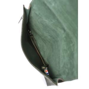 Charles et Charlus【シャルル・エ・シャルリュス】ミニクラッチバッグ POUCH M metalique Vert レザー グリーン|cinqessentiel|04
