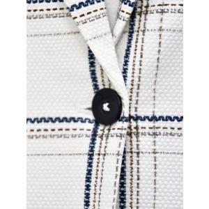 CIRCOLO 1901【チルコロ】チェック プリントハニカムジャケット 157515 NAVY コットン ホワイト ネイビー|cinqessentiel|03