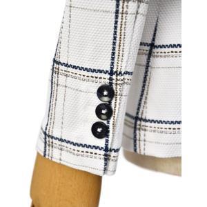 CIRCOLO 1901【チルコロ】チェック プリントハニカムジャケット 157515 NAVY コットン ホワイト ネイビー|cinqessentiel|04