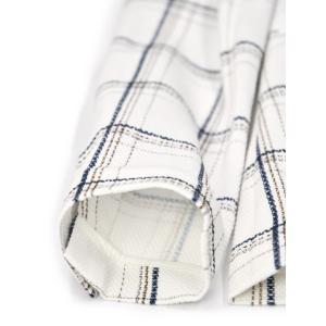 CIRCOLO 1901【チルコロ】チェック プリントハニカムジャケット 157515 NAVY コットン ホワイト ネイビー|cinqessentiel|05