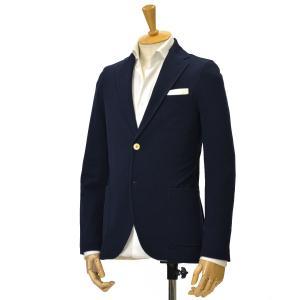 CIRCOLO 1901【チルコロ】ピケジャージーシングルジャケット 8CU179002 447 blue navy コットン ネイビー|cinqessentiel