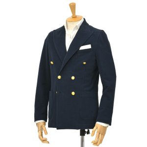 CIRCOLO 1901【チルコロ】ダブルジャージージャケット カシミヤタッチ 9CU2004MB 851 コットン ネイビー|cinqessentiel