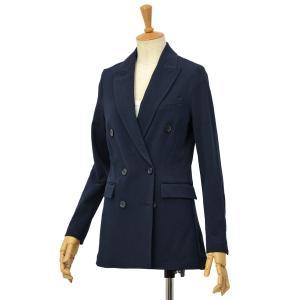 CIRCOLO 1901【チルコロ】ダブルブレストジャージジャケット ACD127701 447 コットン ネイビー|cinqessentiel
