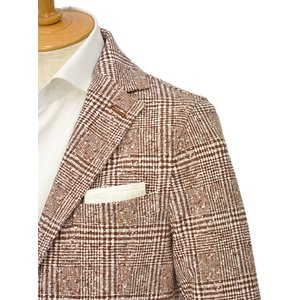 CIRCOLO 1901【チルコロ】グレンプレイド ジャージージャケット ACU223617 MOG コットン マホガニー|cinqessentiel|02