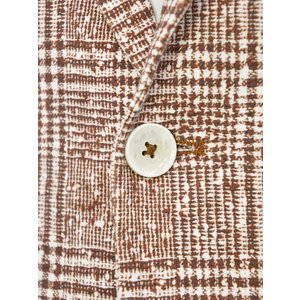 CIRCOLO 1901【チルコロ】グレンプレイド ジャージージャケット ACU223617 MOG コットン マホガニー|cinqessentiel|03