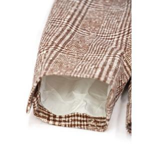 CIRCOLO 1901【チルコロ】グレンプレイド ジャージージャケット ACU223617 MOG コットン マホガニー|cinqessentiel|05