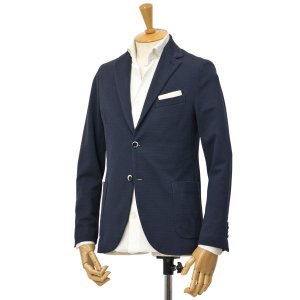 CIRCOLO 1901【チルコロ】オックスフォード ジャージージャケット ACU225228 BLU コットン ネイビー|cinqessentiel