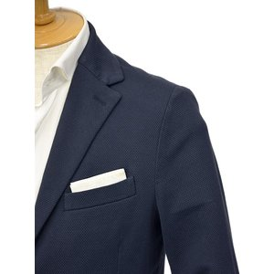 CIRCOLO 1901【チルコロ】オックスフォード ジャージージャケット ACU225228 BLU コットン ネイビー|cinqessentiel|02