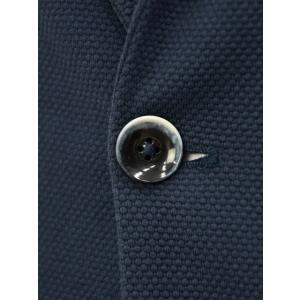 CIRCOLO 1901【チルコロ】オックスフォード ジャージージャケット ACU225228 BLU コットン ネイビー|cinqessentiel|03