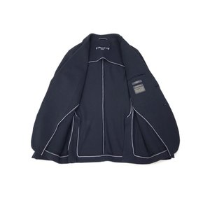 CIRCOLO 1901【チルコロ】オックスフォード ジャージージャケット ACU225228 BLU コットン ネイビー|cinqessentiel|07