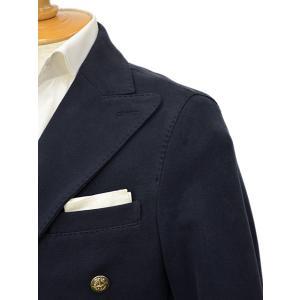 CIRCOLO 1901【チルコロ】ジャージーダブルジャケット カシミヤタッチ 9204A233501MB 851 コットン ネイビー|cinqessentiel|02