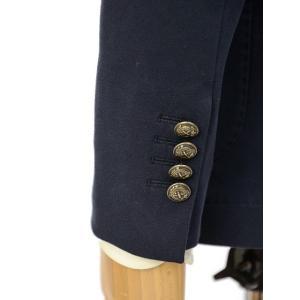 CIRCOLO 1901【チルコロ】ジャージーダブルジャケット カシミヤタッチ 9204A233501MB 851 コットン ネイビー|cinqessentiel|04