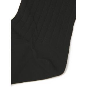 CORGI【コーギー】ソックス靴下 80-45-4011 plain rib sock cotton nylon BLACK コットンナイロン薄手 ブラック|cinqessentiel|02
