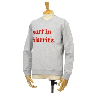 CUISSE DE GRENOUILLE【キュイス ドゥ グルヌイユ】スウェット SURFIN BIARRITZ SWEAT 01 コットン ライトグレー cinqessentiel