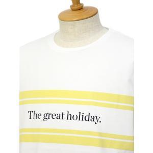 CUISSE DE GRENOUILLE【キュイス ドゥ グルヌイユ】プリントカットソー GALET 01 The great holiday. コットン ホワイト|cinqessentiel|02