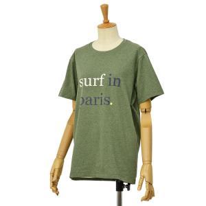 CUISSE DE GRENOUILLE【キュイス ドゥ グルヌイユ】プリントカットソー GAGNANT 01 SURF IN Paris コットン ライトカーキ cinqessentiel