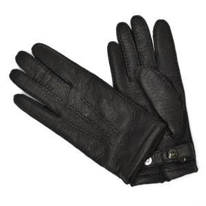 DENTS【デンツ】DENTS【デンツ】手袋/グローブ 15-1564 BLACK Peccary&Cashmere lining(ブラック ペッカリー&カシミアライニング)|cinqessentiel