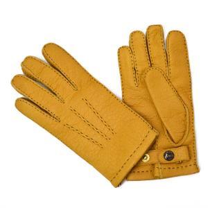 DENTS【デンツ】手袋/グローブ 15-1564 CorkPeccary&Cashmere lining(イエロー ペッカリー&カシミアライニング)|cinqessentiel