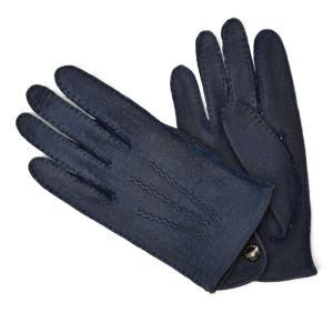 DENTS【デンツ】手袋/グローブ 15-1043 Navy Peccary&No lining(ネイビー ペッカリー)|cinqessentiel