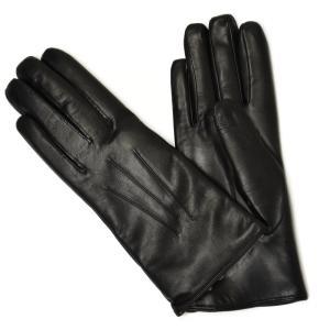 DENTS【デンツ】ラビットファーライニング レザーグローブ 17 1061 BLACK GREY ブラック グレー cinqessentiel