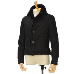 EMMETI【エンメティ】ムートンシングルブルゾン FRANCESCO lamb leather NERO(ブラック)|cinqessentiel