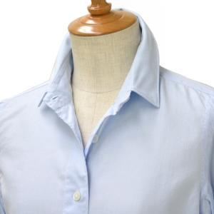 Finamore【フィナモレ】ツイルソリッドシャツ 840200 05 ZOE CLELIA コットン ブルー cinqessentiel