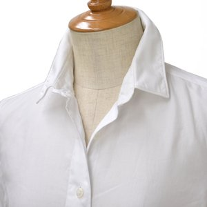 Finamore【フィナモレ】ツイルシャツ 840200 1 CLELIA cotton TWIIL WHITE(ツイル ホワイト) cinqessentiel