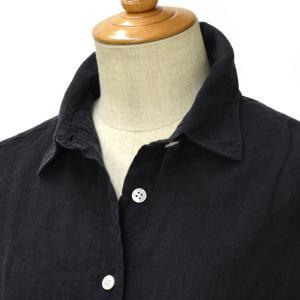 Finamore【フィナモレ】ムジリネン ビッグシルエットシャツ 010608 025 GRACE LISA リネン ブラック cinqessentiel