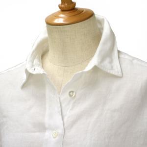 Finamore【フィナモレ】ムジリネン ビッグシルエットシャツ 010608 01 GRACE LISA リネン ホワイト cinqessentiel
