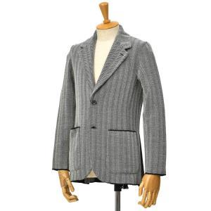Finjack【フィンジャック】ヘリンボーンニットジャケット MONOPETTO ART03 01 ポリエステルウール グレー|cinqessentiel