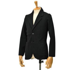 Finjack【フィンジャック】シングルニットジャケット MONOPETTO ART09 03 ウール ブラック|cinqessentiel