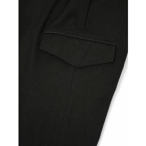 giab's ARCHIVIO【ジャブス アルキヴィオ】カーゴパンツ TIZIANO A5935 90 ウォッシャブルウーリーツイル ブラック|cinqessentiel|05
