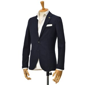 Giannetto【ジャンネット】シングルジャケット 0103-183CORA 0006 コットンストレッチ ネイビー|cinqessentiel