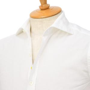 Giannetto【ジャンネット】オックスフォードシャツ VINCIFIT 0103-144370V81 0001 コットン ホワイト|cinqessentiel