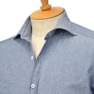 Giannetto【ジャンネット】シャンブレーシャツ VINCIFIT 0103-354370V81 0006 コットン インディゴ|cinqessentiel