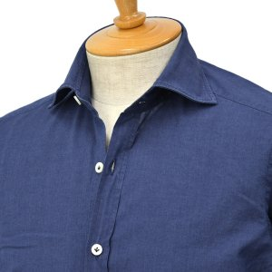 Giannetto【ジャンネット】ライトシャンブレーシャツ VINCIFIT 0103-356370V81 C001 コットン インディゴ|cinqessentiel