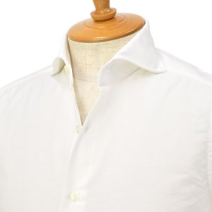 Giannetto【ジャンネット】オックスフォードシャツ SLIMFIT WE14600L84 001 コットン ホワイト|cinqessentiel
