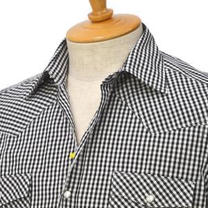 Giannetto【ジャンネット】ウェスタンシャツ AUSTIN VINCIFIT 0103-270AUSV65 0006 コットン ブラック|cinqessentiel