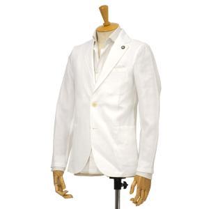 Giannetto【ジャンネット】シングルジャケット 8G844JK 001 リネン  ホワイト cinqessentiel