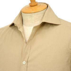 Giannetto【ジャンネット】ツイルシャツ SLIMFIT 9G11337L81 002 コットン ベージュ cinqessentiel