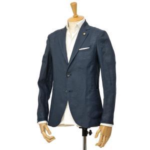 Giannetto【ジャンネット】シングルジャケット AG833JK 009 リネン ネイビー|cinqessentiel