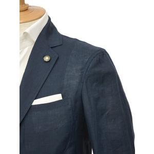 Giannetto【ジャンネット】シングルジャケット AG833JK 009 リネン ネイビー|cinqessentiel|03