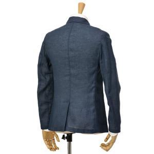 Giannetto【ジャンネット】シングルジャケット AG833JK 009 リネン ネイビー|cinqessentiel|07