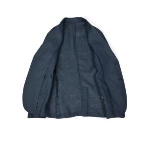 Giannetto【ジャンネット】シングルジャケット AG833JK 009 リネン ネイビー|cinqessentiel|08