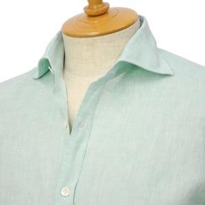 Giannetto【ジャンネット】リネンシャツ VINCIFIT AG85037V81 008 ミント|cinqessentiel