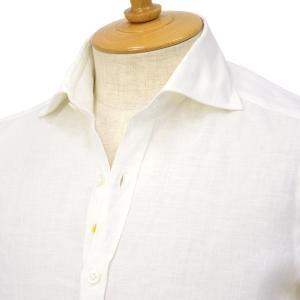 Giannetto【ジャンネット】リネンシャツ VINCIFIT AG85037V81 001 ホワイト cinqessentiel