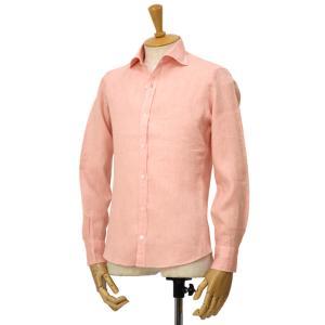 Giannetto【ジャンネット】リネンシャツ VINCIFIT AG85137V81 001 ピンク|cinqessentiel|02