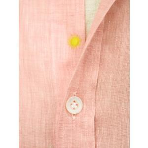 Giannetto【ジャンネット】リネンシャツ VINCIFIT AG85137V81 001 ピンク|cinqessentiel|03