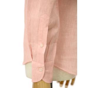 Giannetto【ジャンネット】リネンシャツ VINCIFIT AG85137V81 001 ピンク|cinqessentiel|04